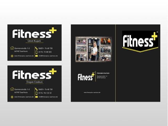 Fitness-Plus-Visitenkarten-Präsentationsmappe